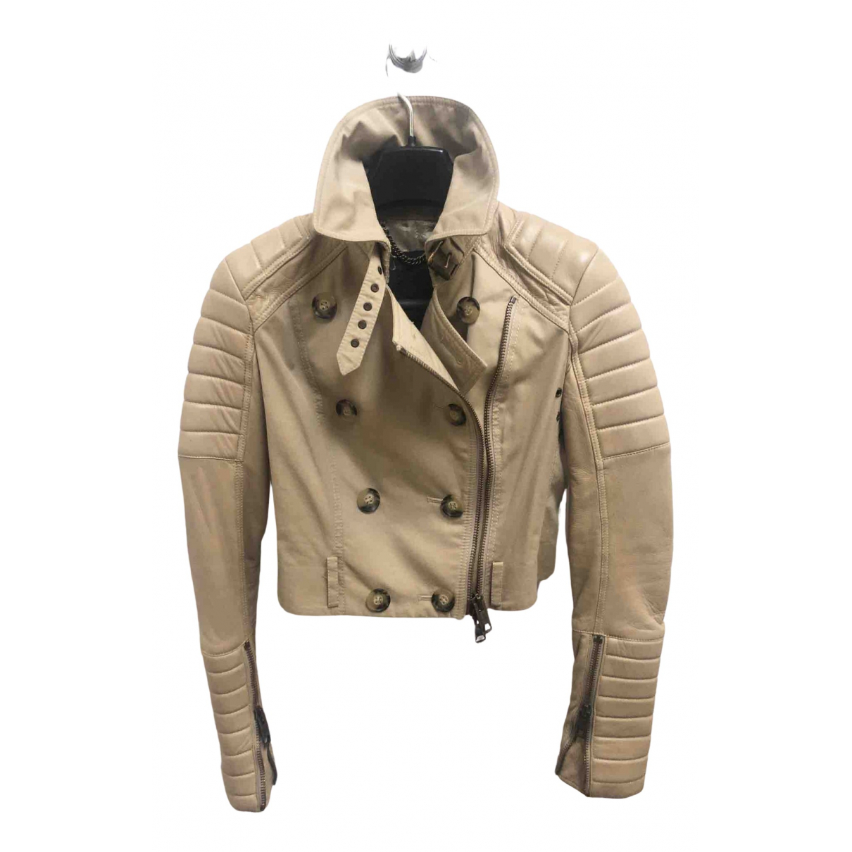 Burberry N Camel Cotton jacket for Women 38 IT