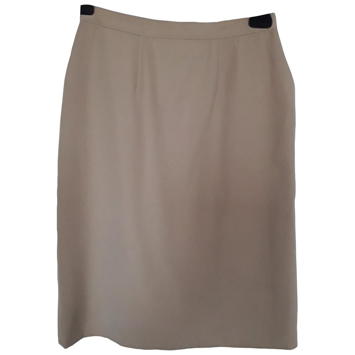 Dior \N Beige Wool skirt for Women 36 FR