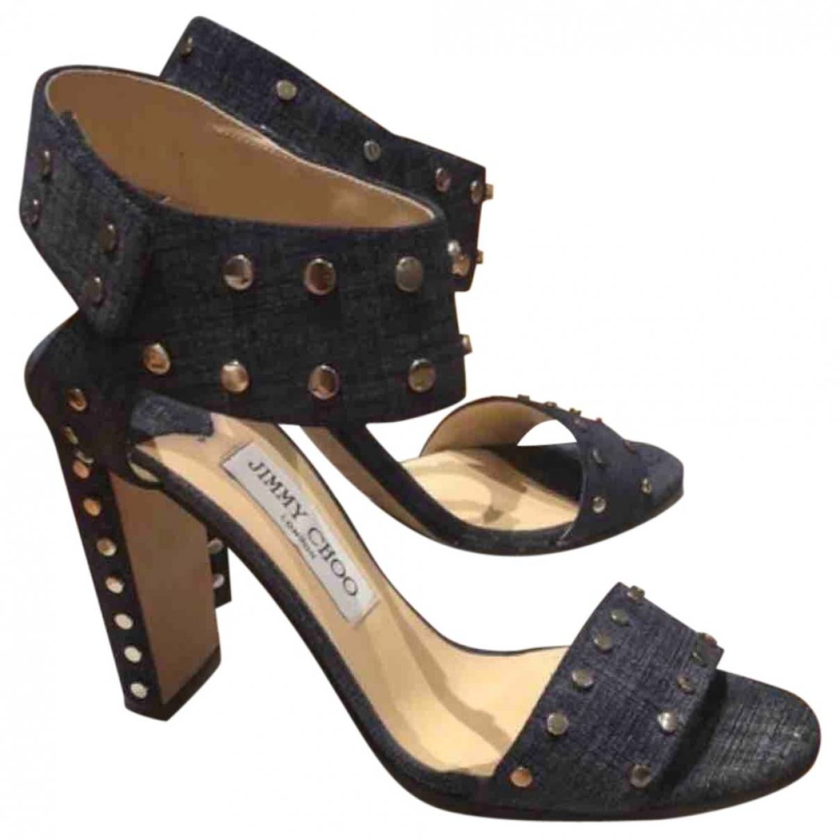 Jimmy Choo \N Blue Cloth Sandals for Women 39 EU