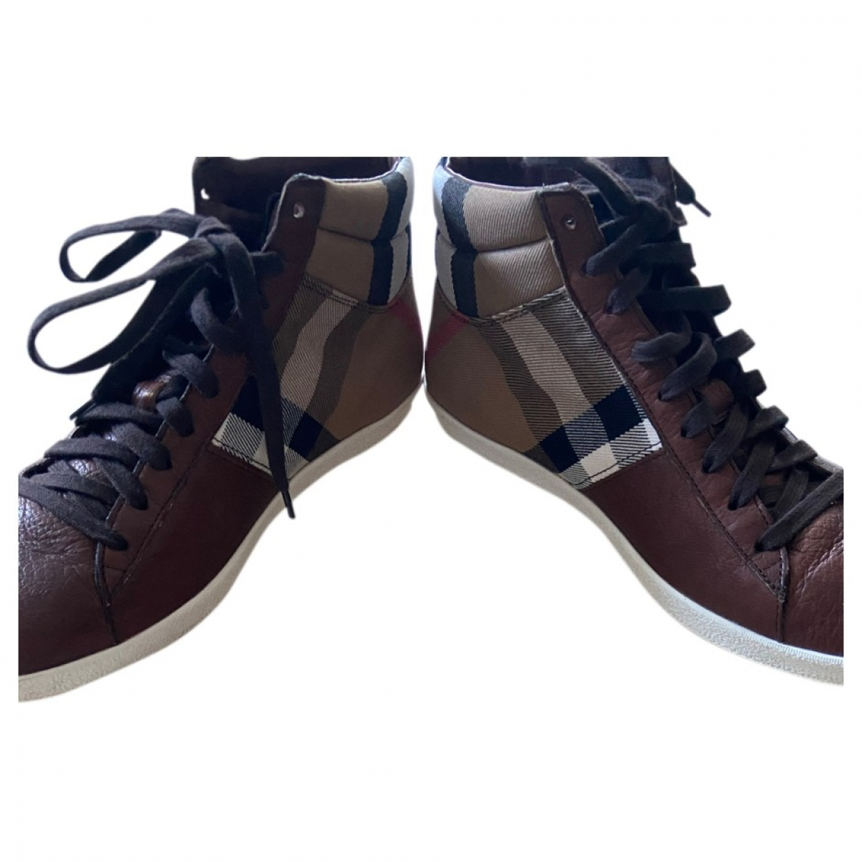 Burberry \N Brown Leather Trainers for Women 40 EU