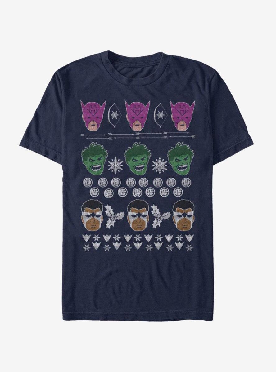 Marvel Avengers Christmas Pattern T-Shirt