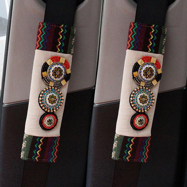 Most Popular Bohemian Style Beautiful Seat Belt Cover