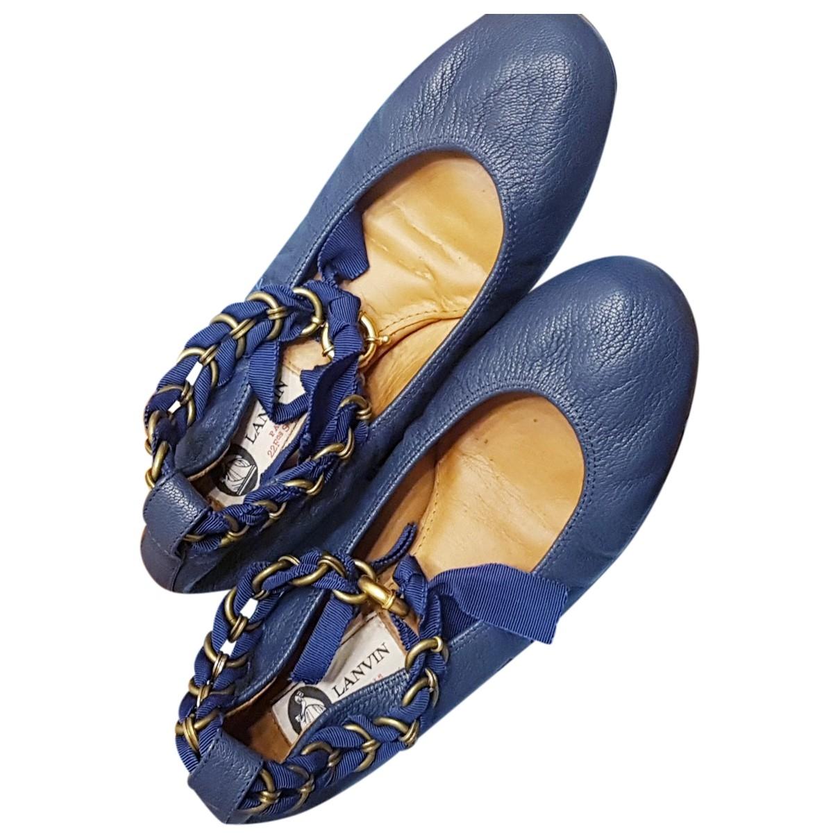 Lanvin - Ballerines   pour femme en cuir - bleu