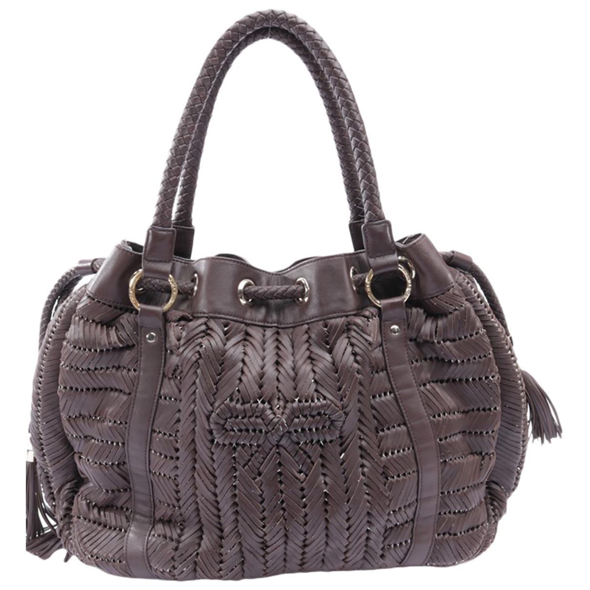 Anya Hindmarch \N Handtasche in  Braun Leder