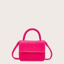 Mini Neon Hot Pink Satchel Bag