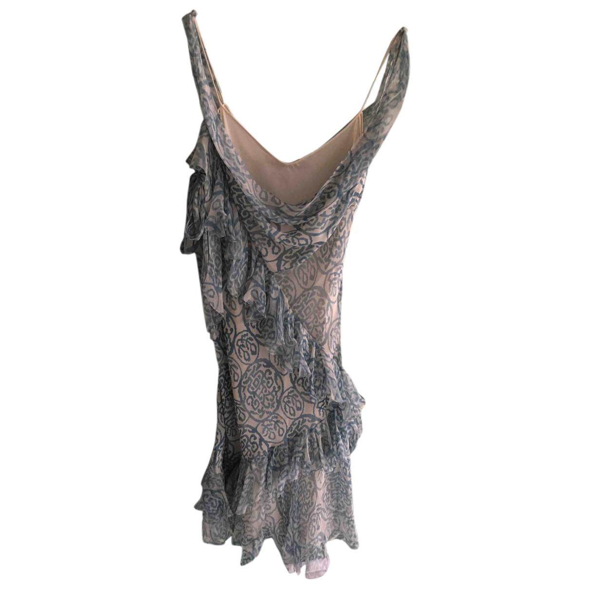 John Galliano N Blue Silk dress for Women 38 FR