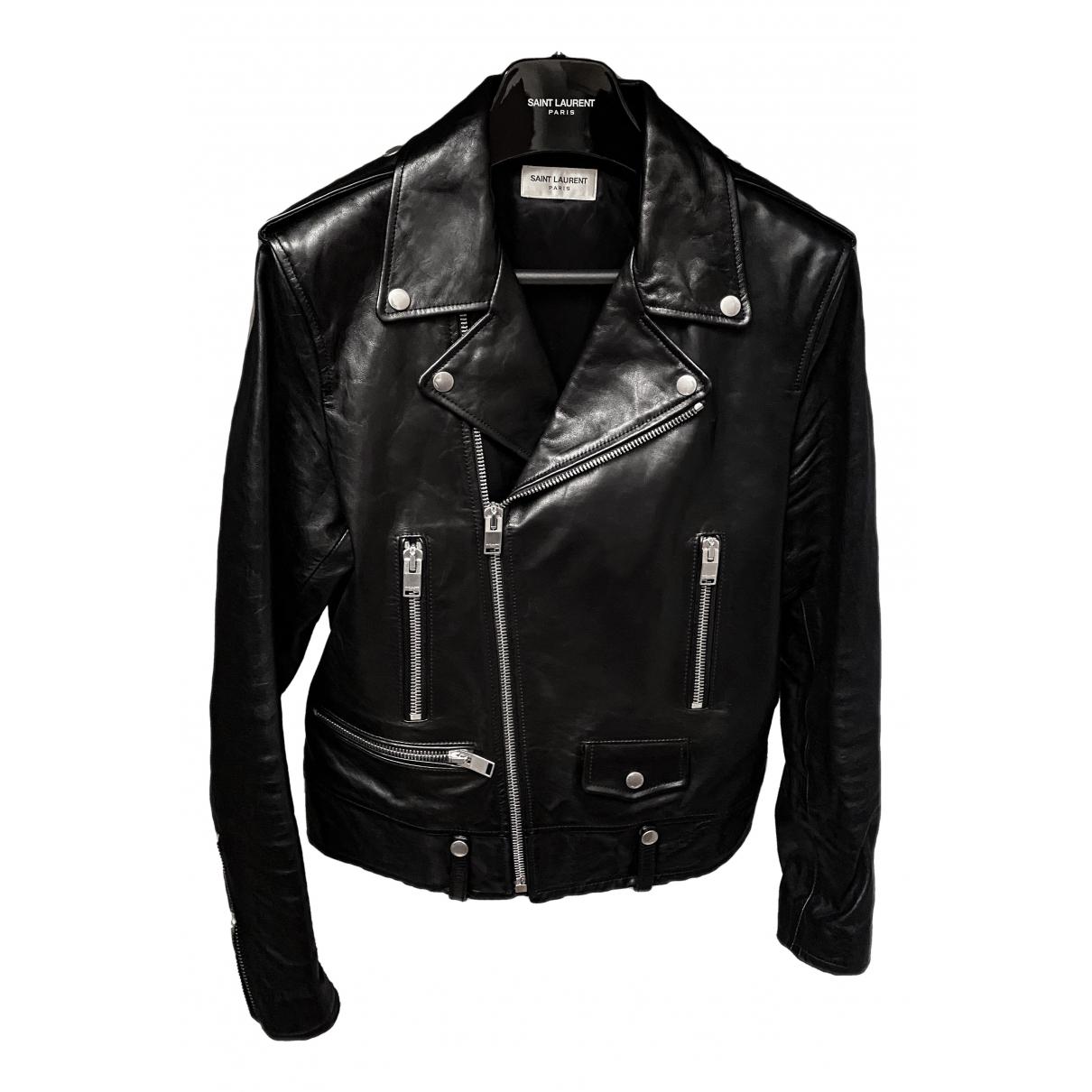 Saint Laurent N Black Leather jacket  for Men 50 IT