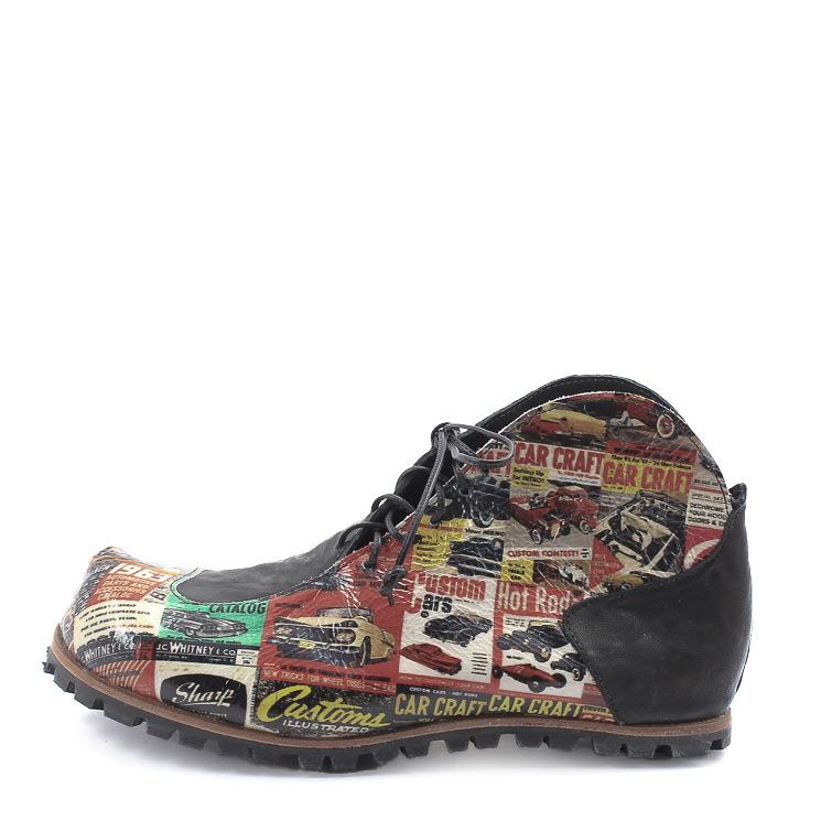 CYDWOQ, Clip Men's Lace-up Bootees, black Größe 43