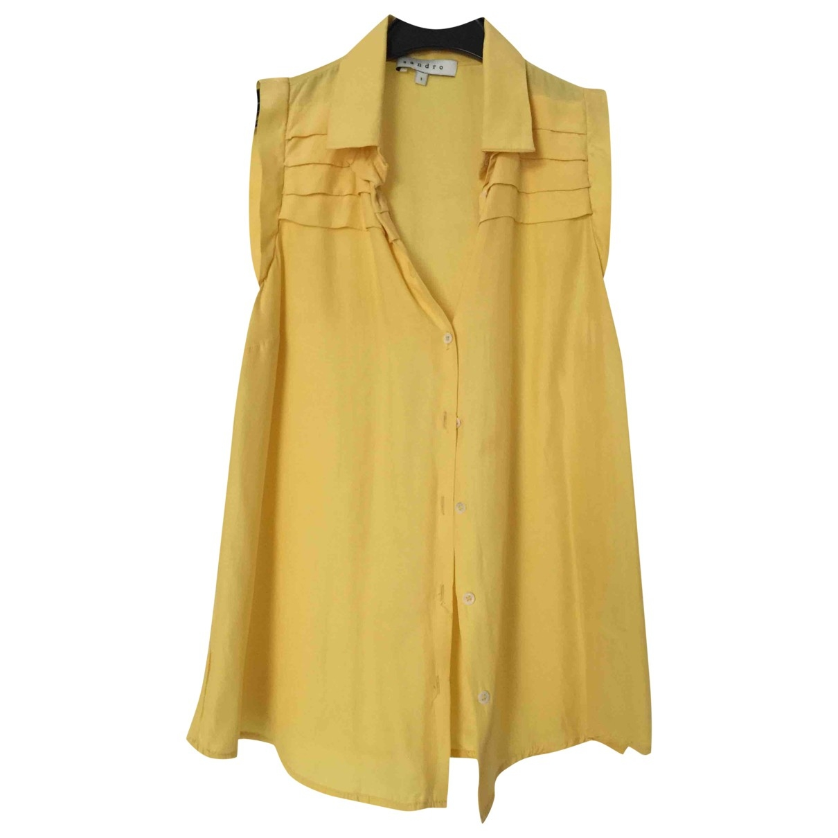 Sandro \N Yellow Silk  top for Women 34 FR