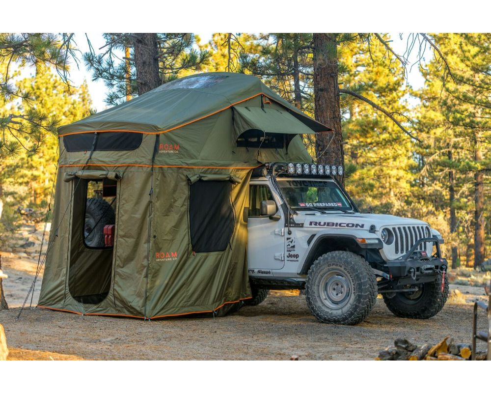 ROAM Vagabond XL Slate Grey/Navy Blue Rooftop Tent with Annex