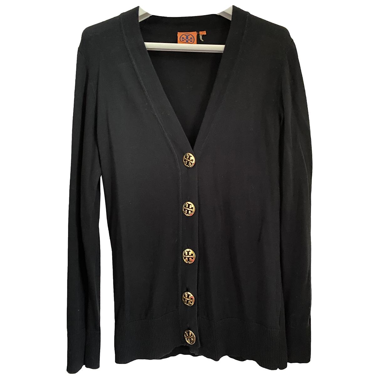 Tory Burch - Pull   pour femme en coton - noir