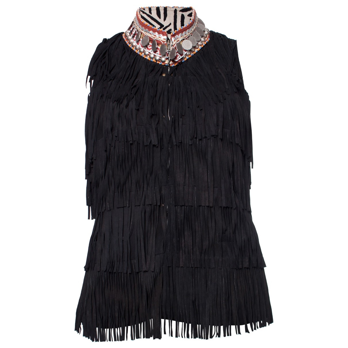 Bazar Deluxe - Veste   pour femme en suede - noir