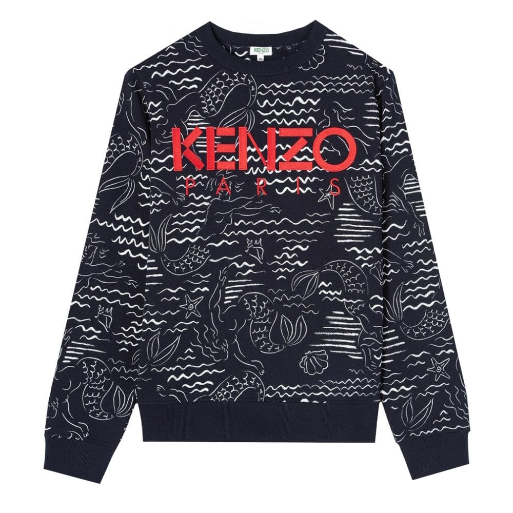 Kenzo Paris Mermaids Sweater Colour: NAVY, Size: LARGE