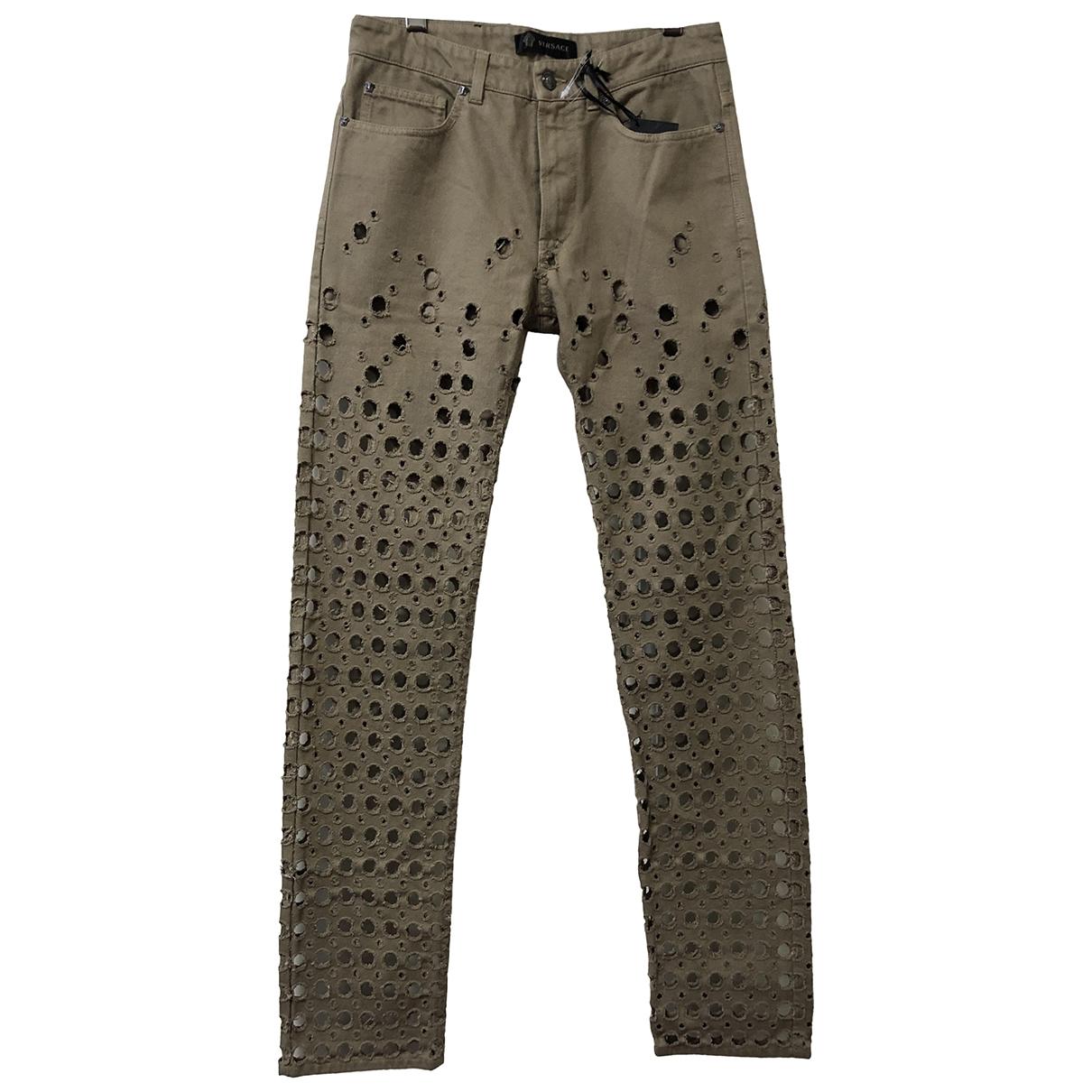 Versace \N Hose in  Beige Baumwolle