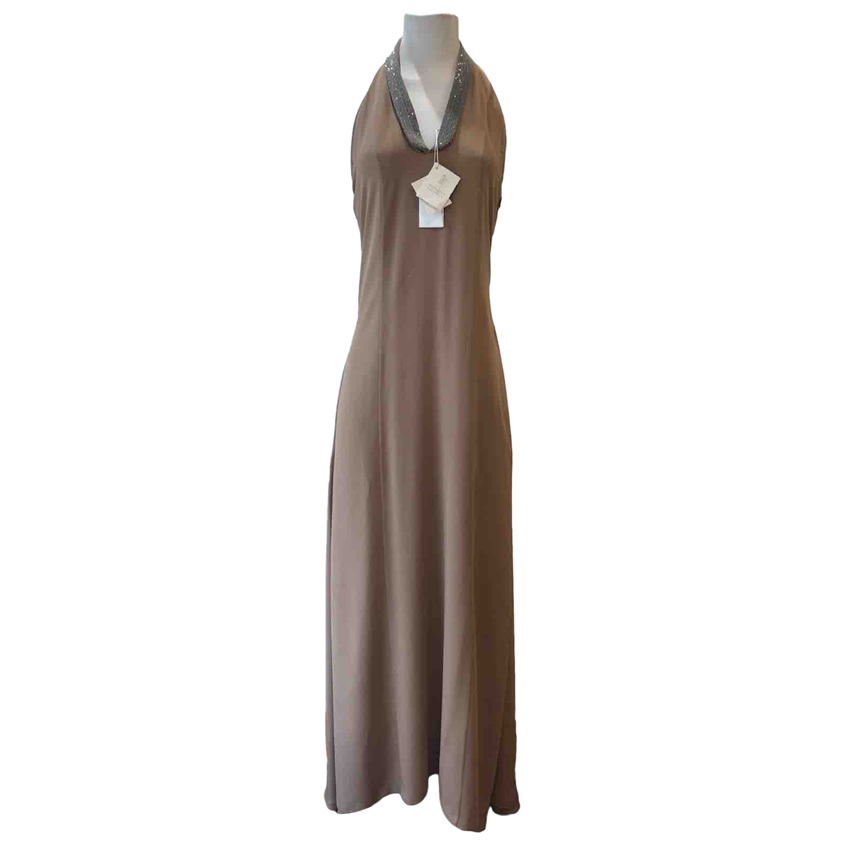Brunello Cucinelli \N Kleid in  Braun Seide