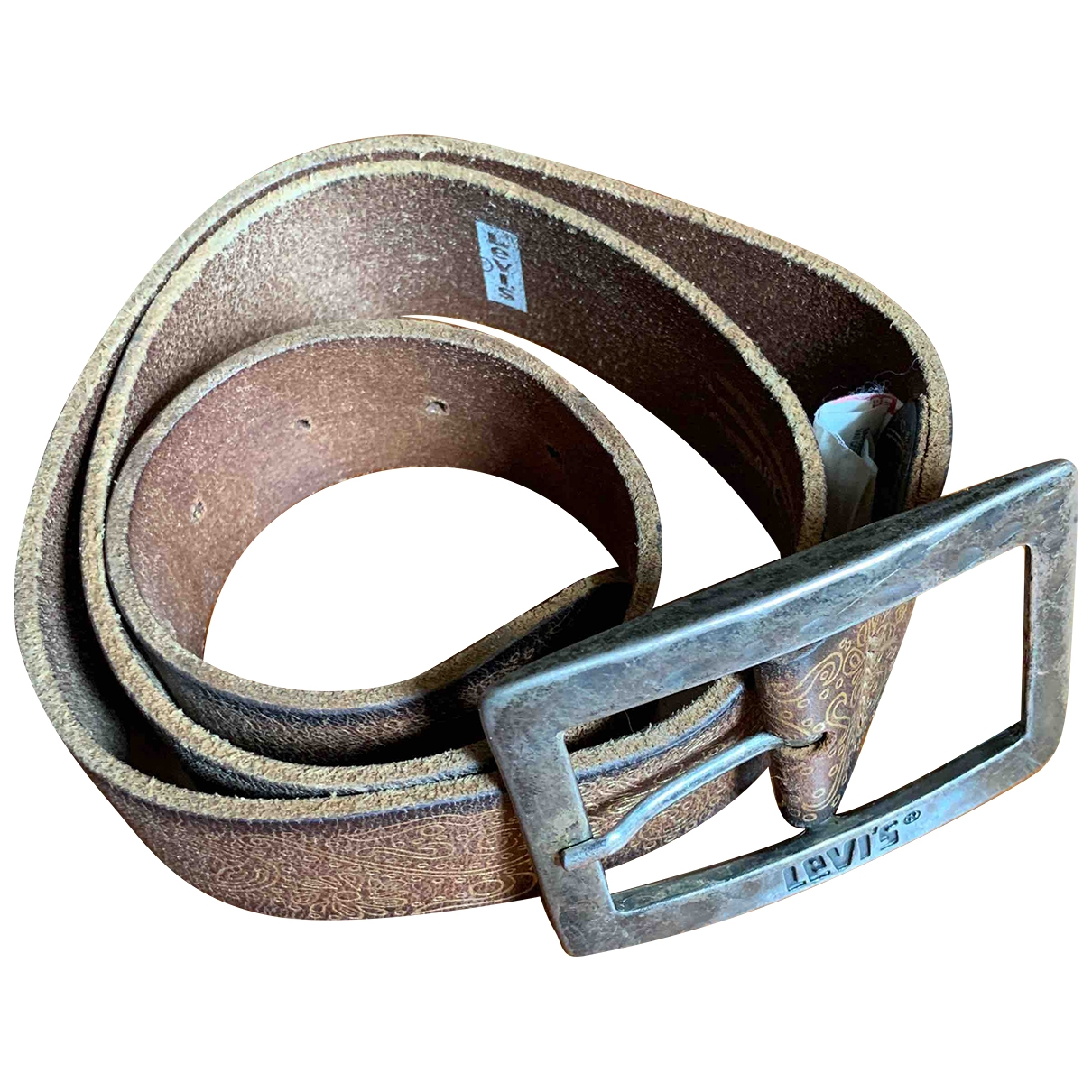 Levi's \N Brown Leather belt for Women 85 cm