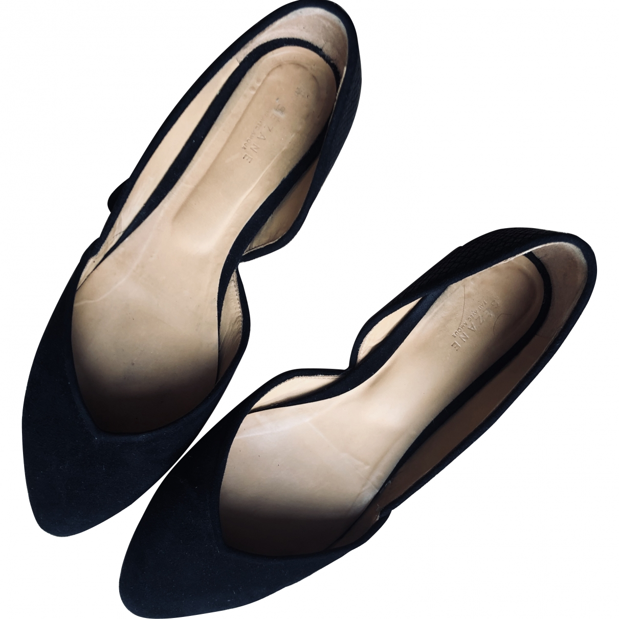 Sézane \N Black Suede Flats for Women 41 EU