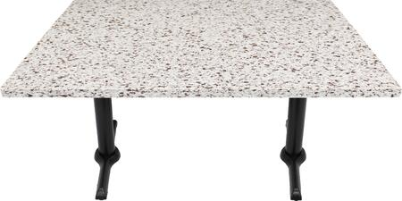 Q411 30X42-B10-0522J 30x42 Chocolate Blizzard Quartz Tabletop with 5