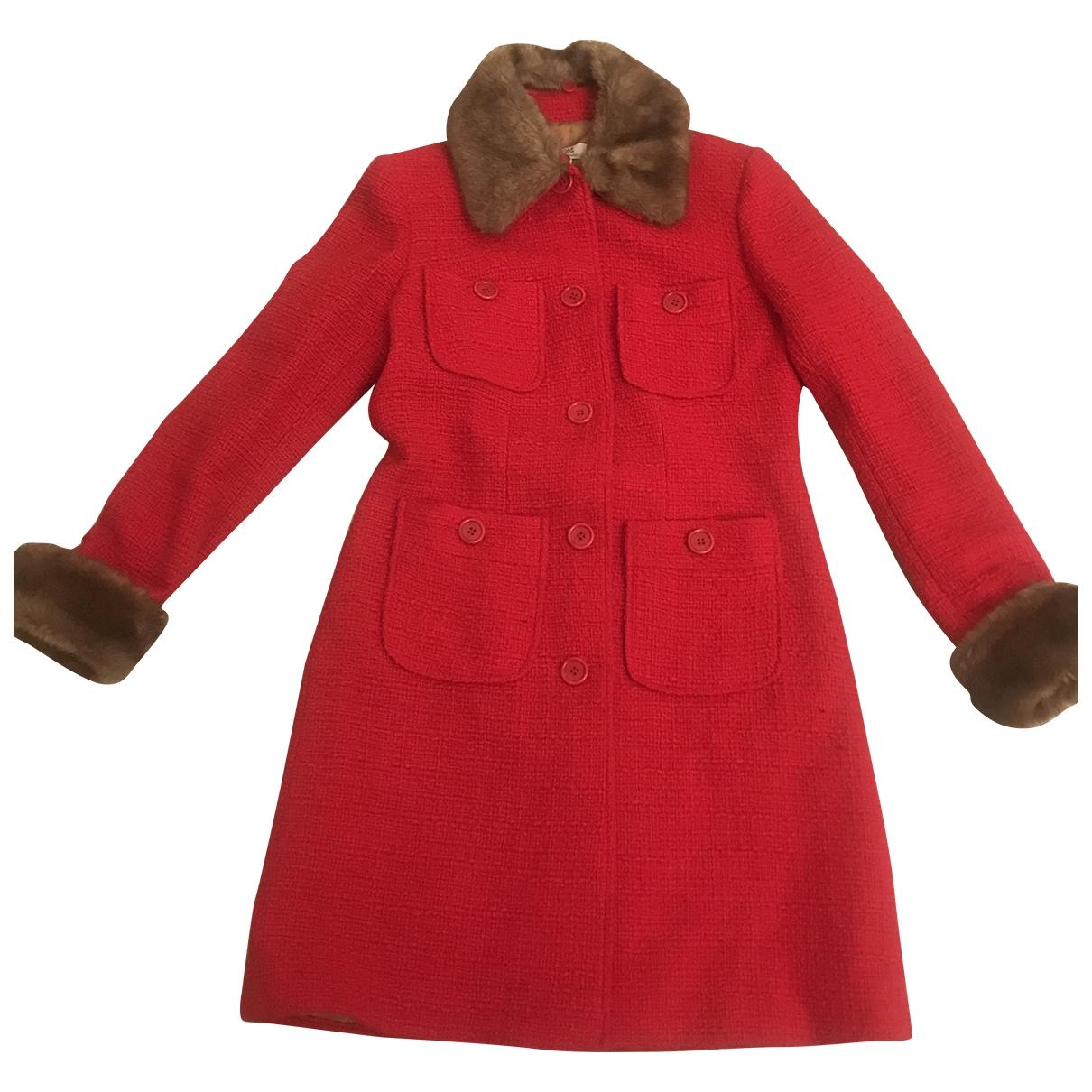 Pablo - Manteau   pour femme en laine - rouge