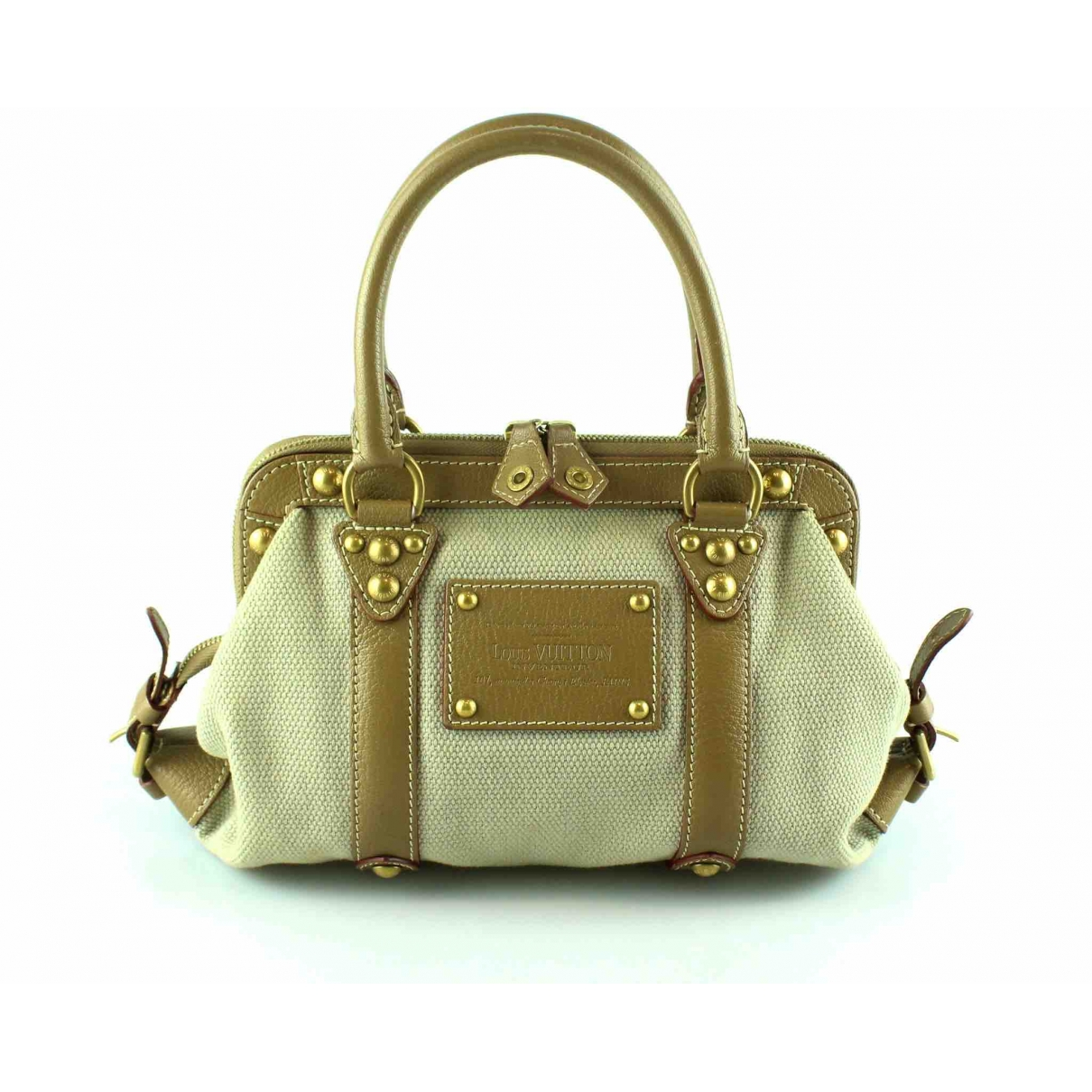 Louis Vuitton \N Beige Cloth handbag for Women \N