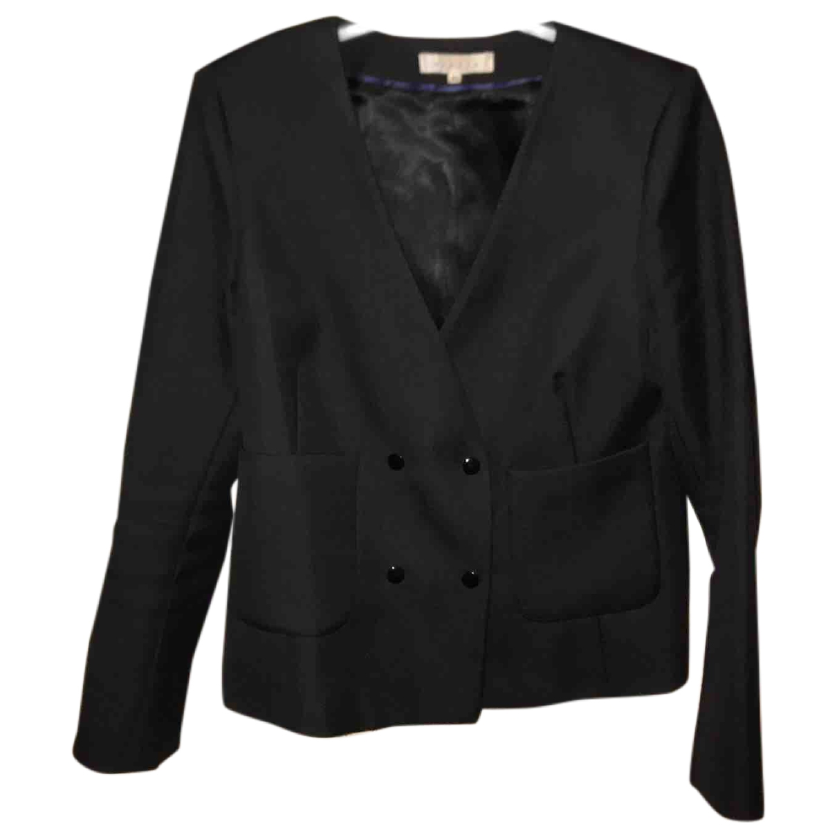 Sandro \N Black Cotton jacket for Women 40 FR