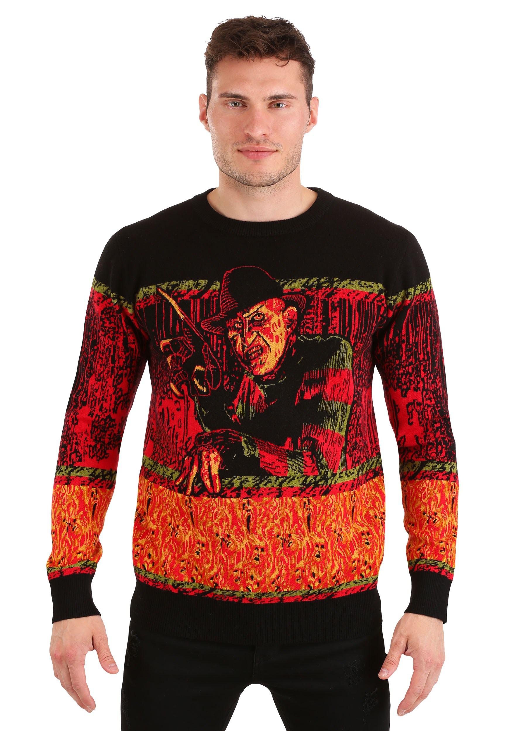 Nightmare on Elm Street Freddy Halloween Sweater for Adults