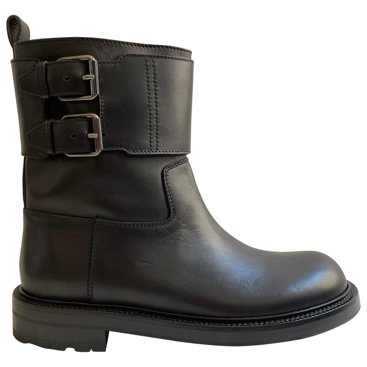 Loewe \N Stiefel in  Schwarz Leder