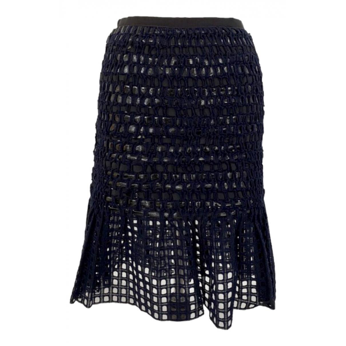 Sacai - Jupe   pour femme en coton - bleu
