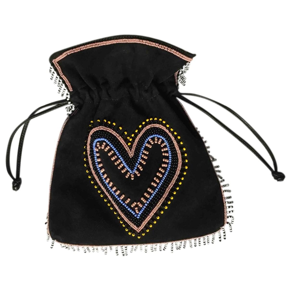 Les Petits Joueurs \N Black Suede handbag for Women \N
