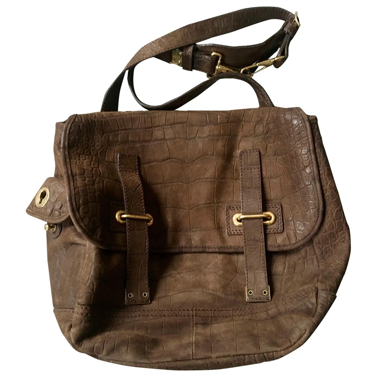 Yves Saint Laurent Messenger Handtasche in  Braun Leder