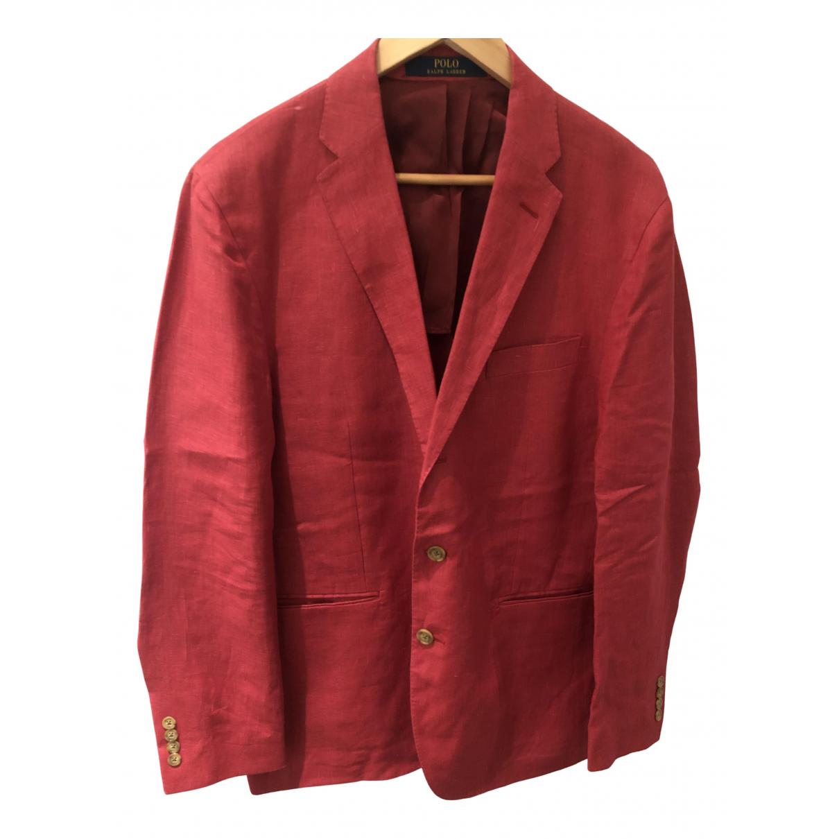 Polo Ralph Lauren - Vestes.Blousons   pour homme en lin - rose