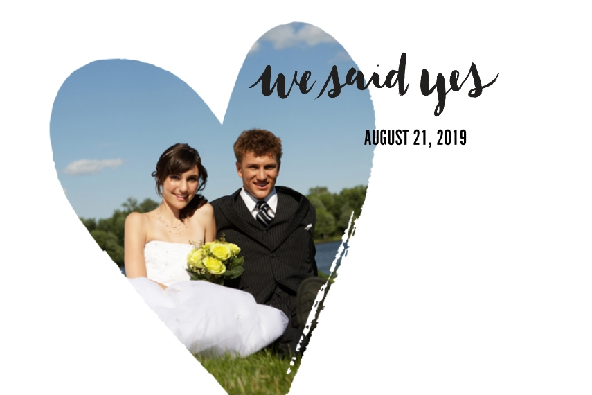 Wedding 24x36 Poster , Home Décor -We Said Yes
