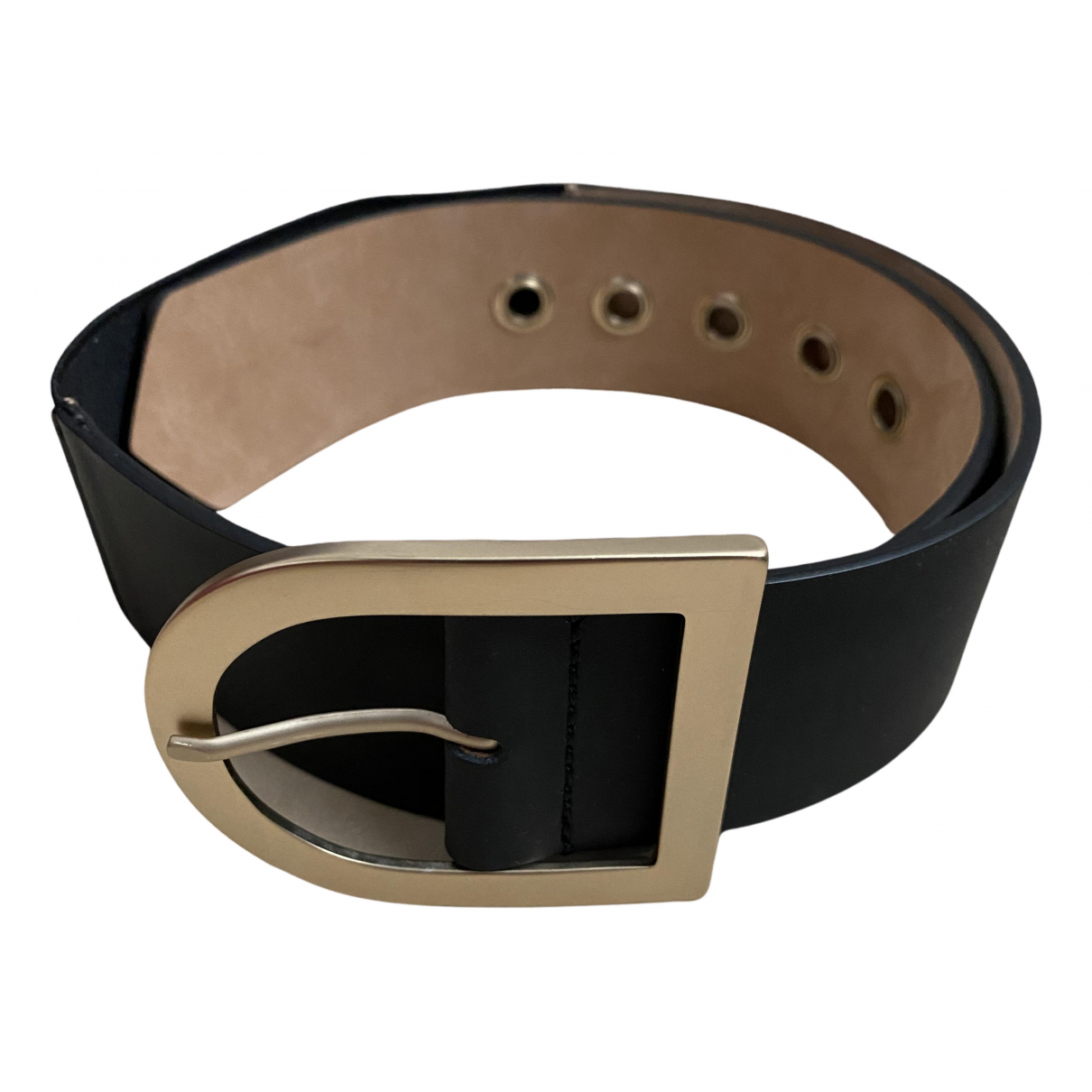 Max Mara N Black Leather belt for Women S International