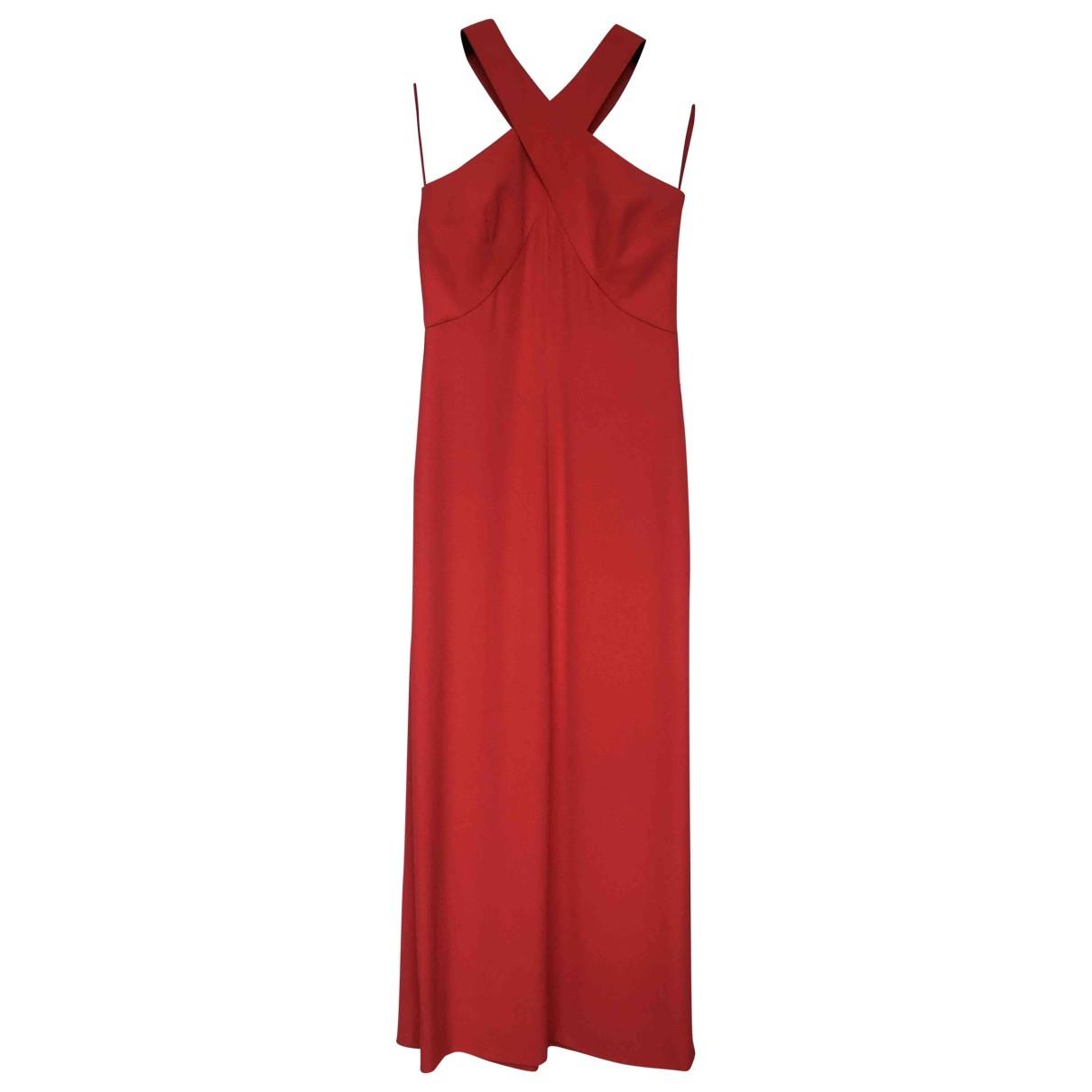 Giorgio Armani - Robe   pour femme en soie - rouge