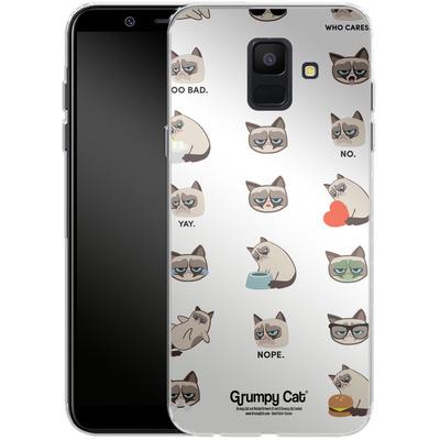 Samsung Galaxy A6 Silikon Handyhuelle - Grumpy Cat Pattern von Grumpy Cat