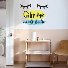 Pegatina de pared con slogan