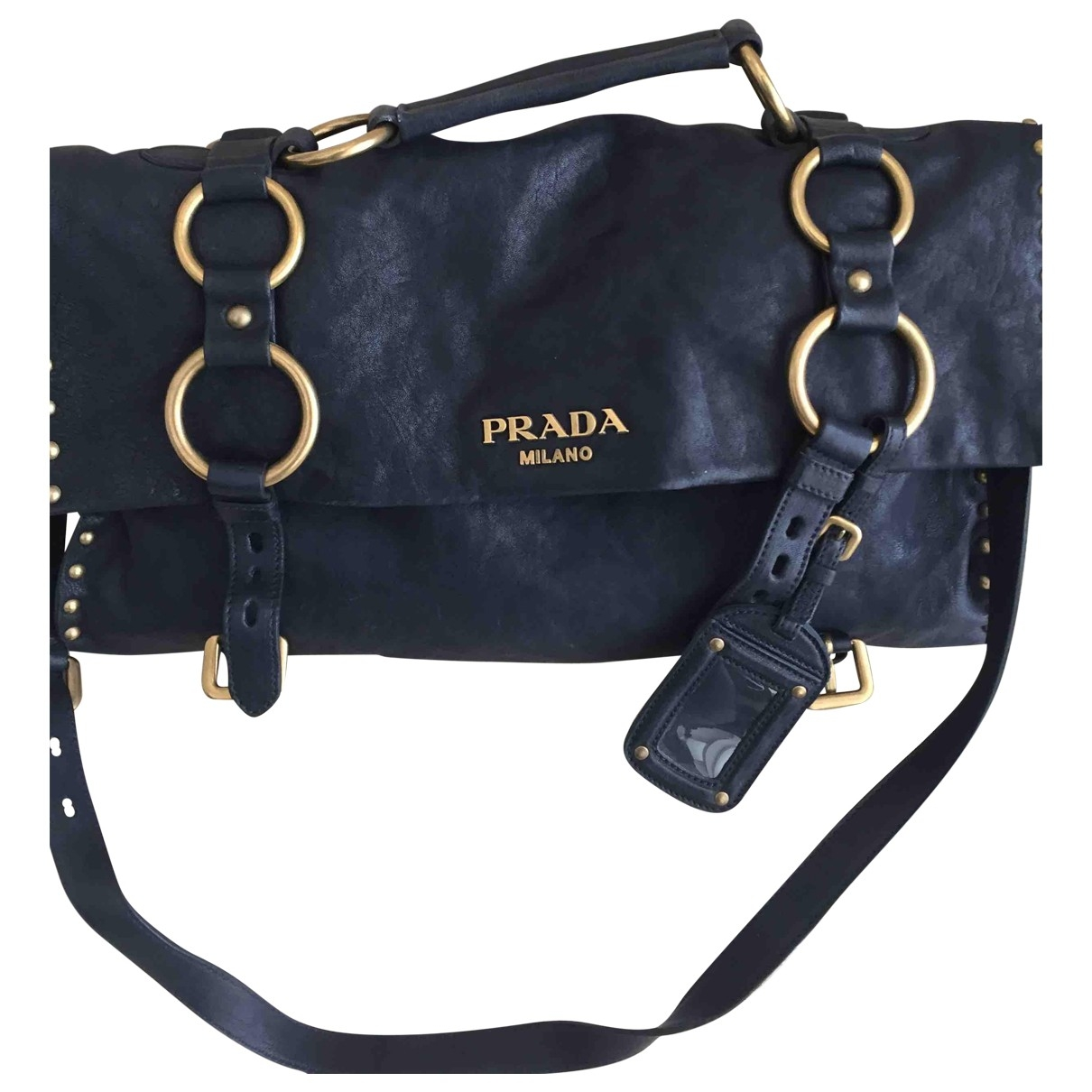 Prada \N Navy Leather handbag for Women \N