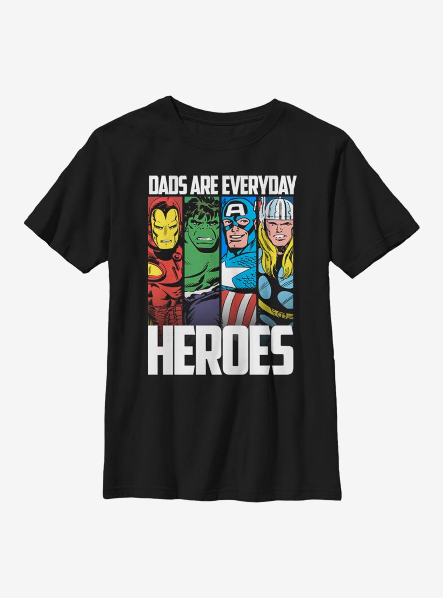 Marvel Avengers Everyday Hero Dad Youth T-Shirt