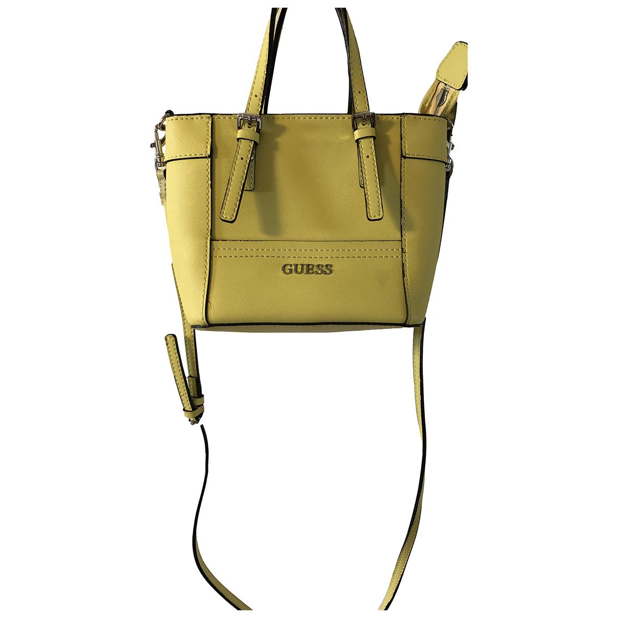 Guess \N Yellow Cotton handbag for Women \N