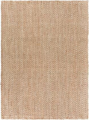 Reeds REED-804 9' x 13' Rectangle Cottage Rug in Tan