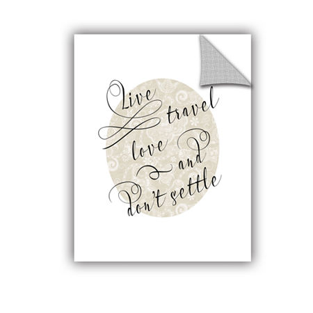 Brushstone Live Travel Love Removable Wall Decal, One Size , Multiple Colors