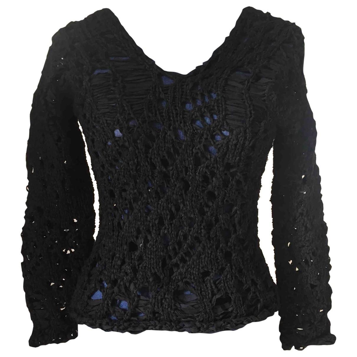 Junya Watanabe \N Black Cotton Knitwear for Women M International