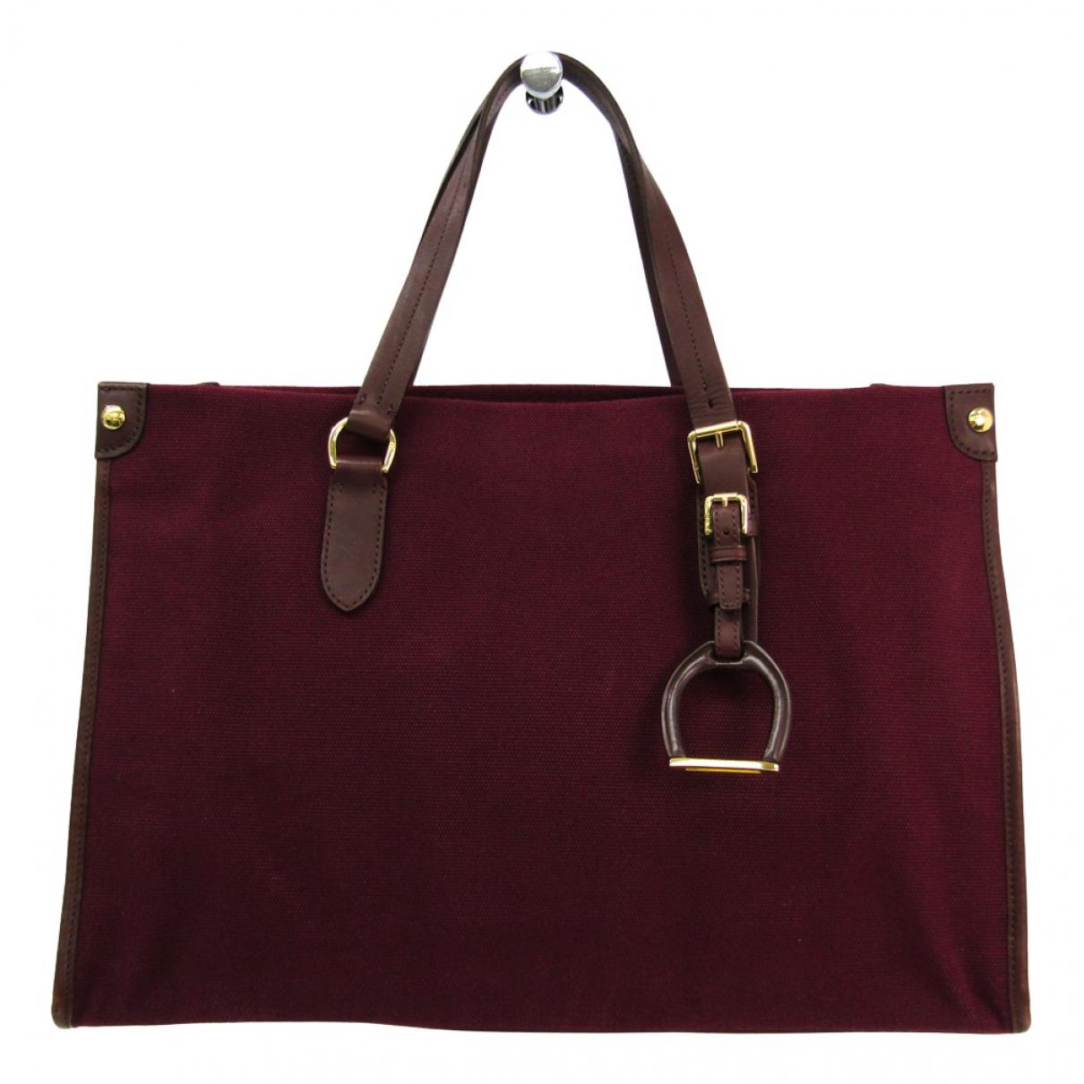 Ralph Lauren \N Handtasche in  Bordeauxrot Leinen