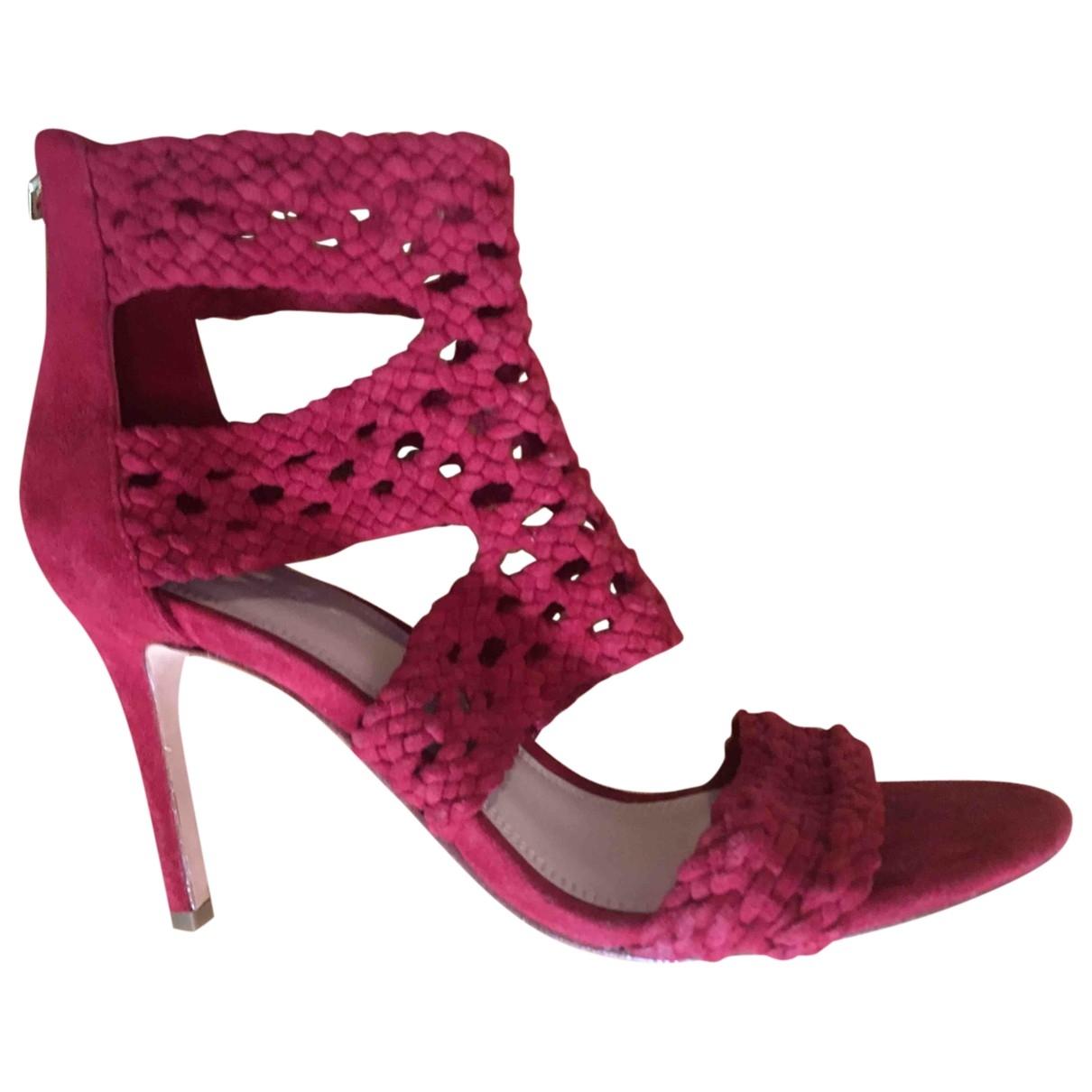 Sandro - Escarpins   pour femme en cuir - rouge