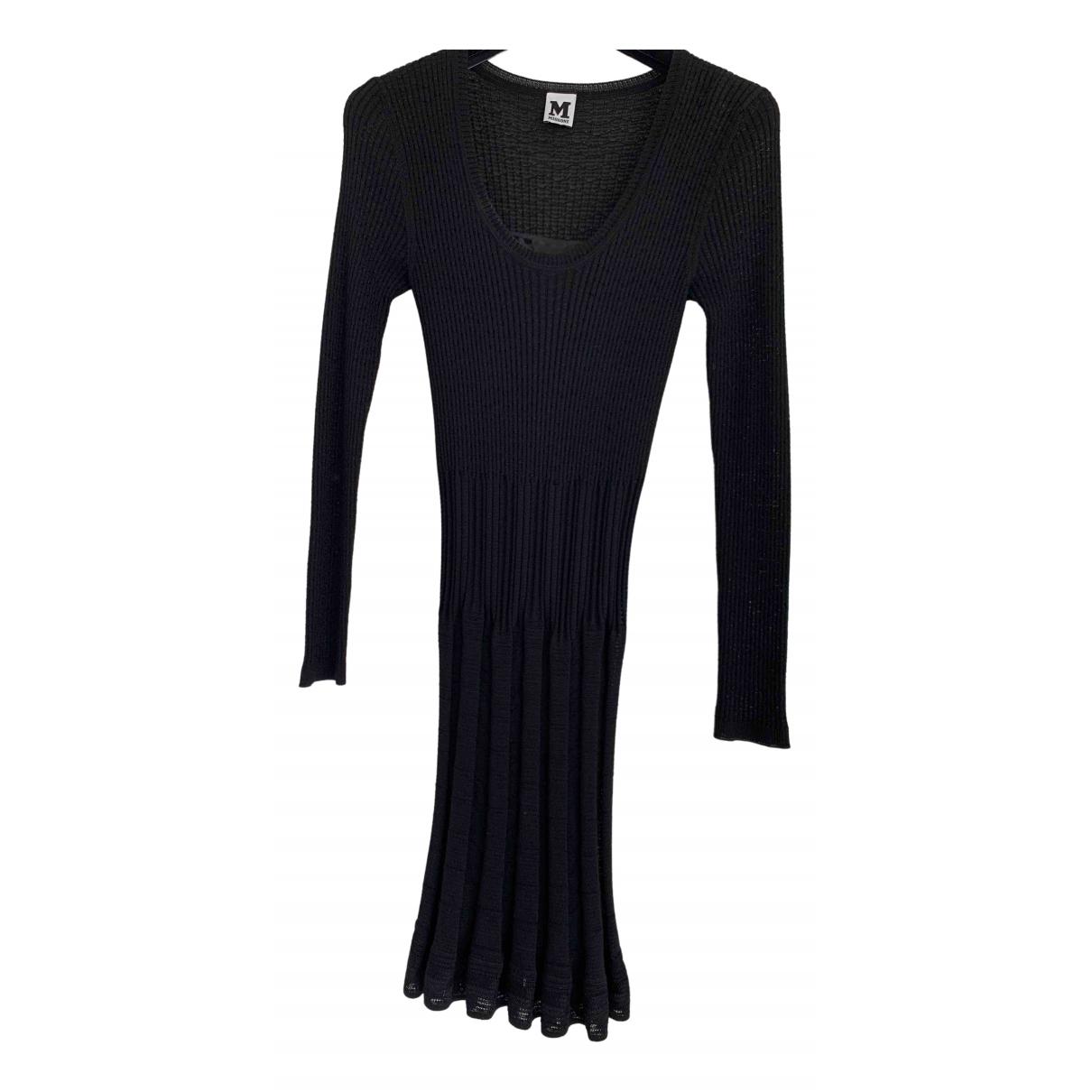 M Missoni N Black Wool dress for Women 44 IT