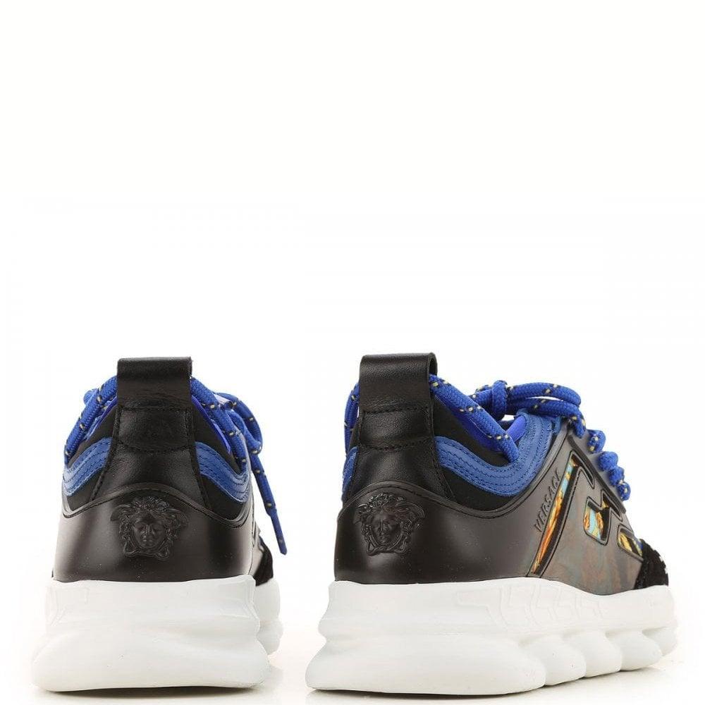 Versace Kids Chain Reaction Trainers Size: 39, Colour: BLUE
