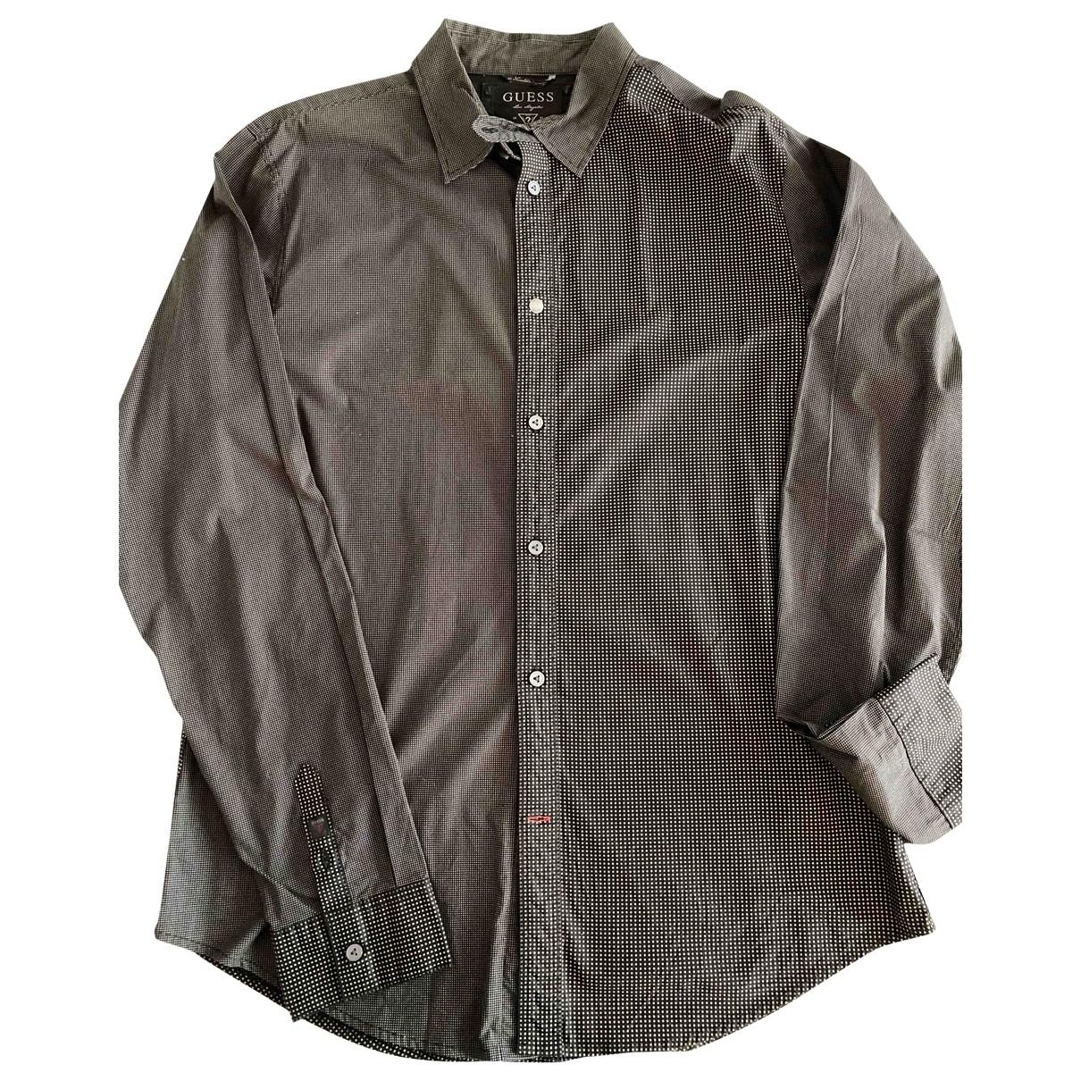 Guess \N Grey Cotton Shirts for Men XL International