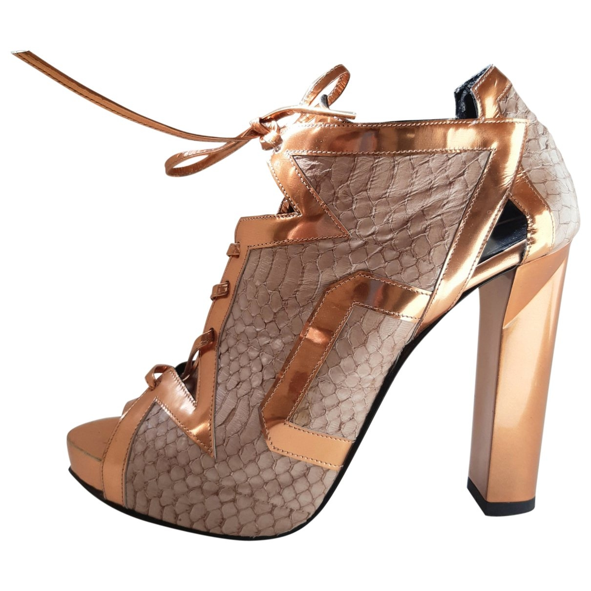 Pierre Hardy \N Pink Exotic leathers Heels for Women 39 EU