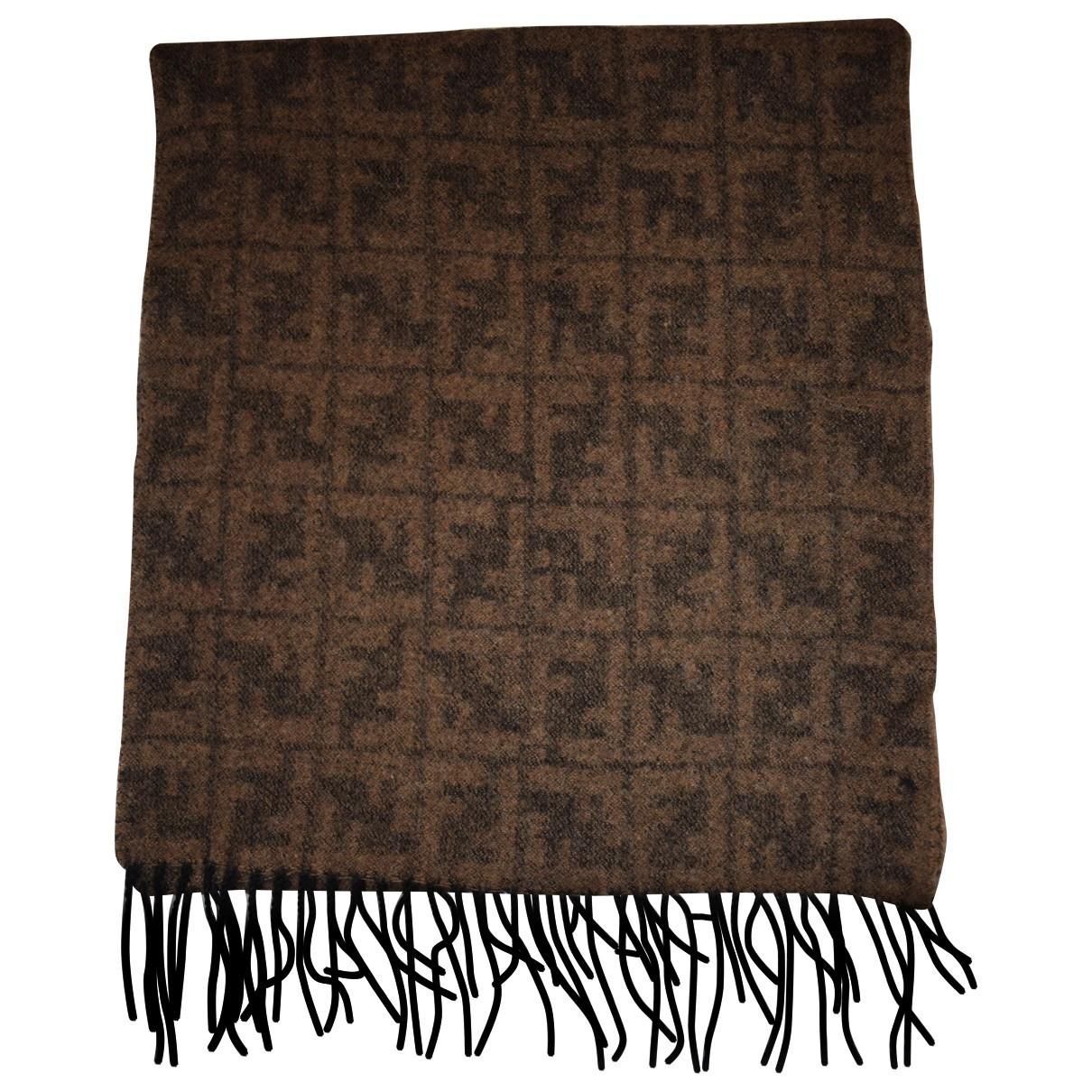 Fendi \N Brown Wool scarf & pocket squares for Men \N