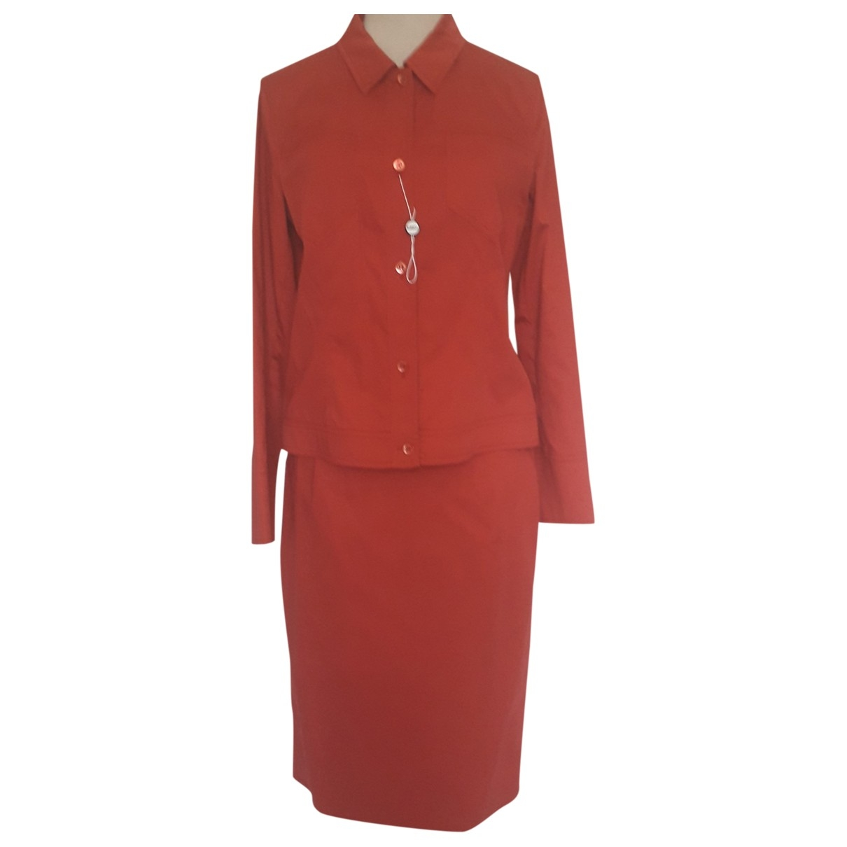 Marella \N Jacke in  Rot Baumwolle